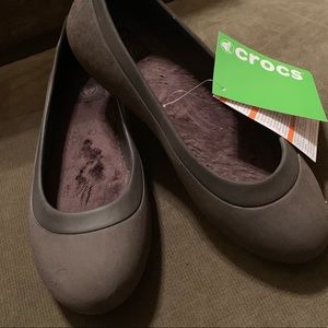 Crocs NWT Women's Mammoth Flats 8 Brown